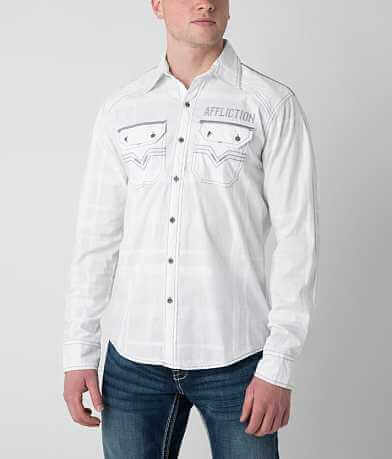 Affliction Black Premium White Cloud Stretch Shirt