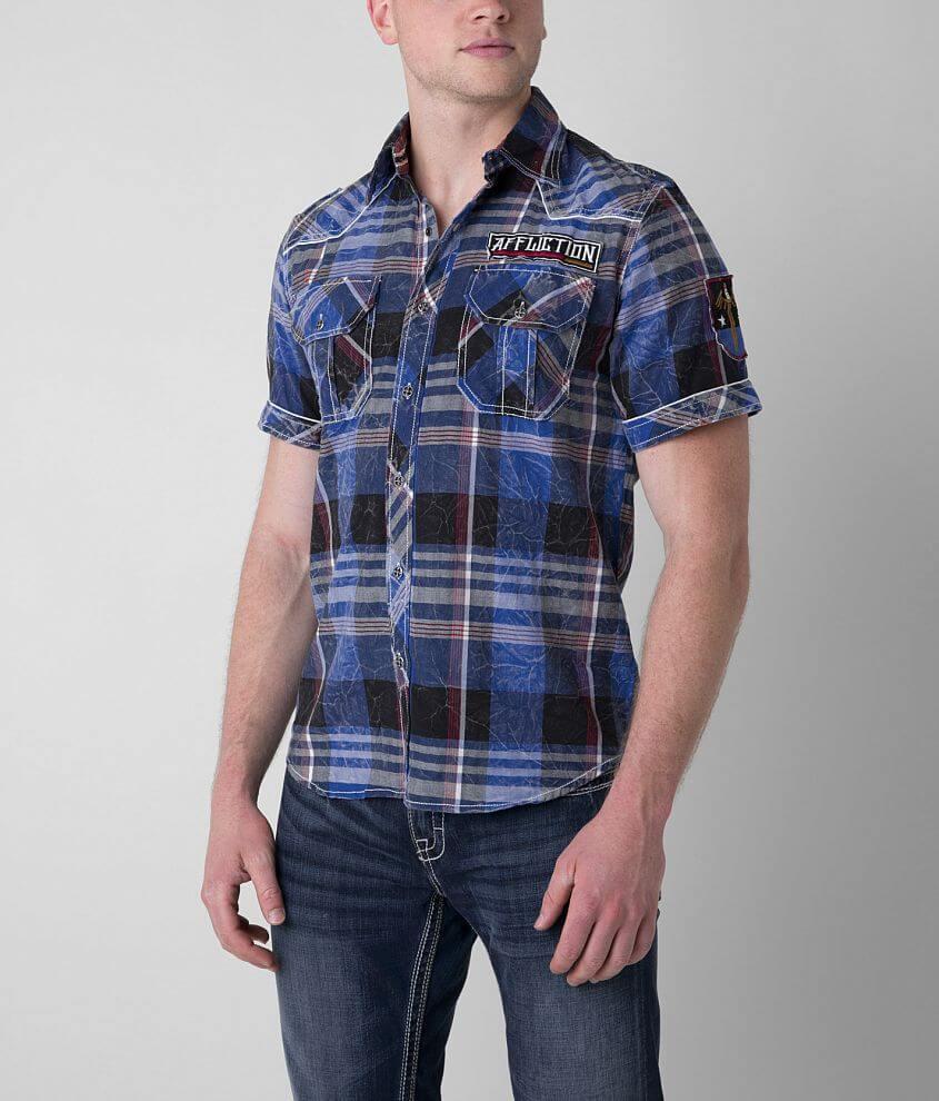Affliction Black Premium Sky High Shirt front view