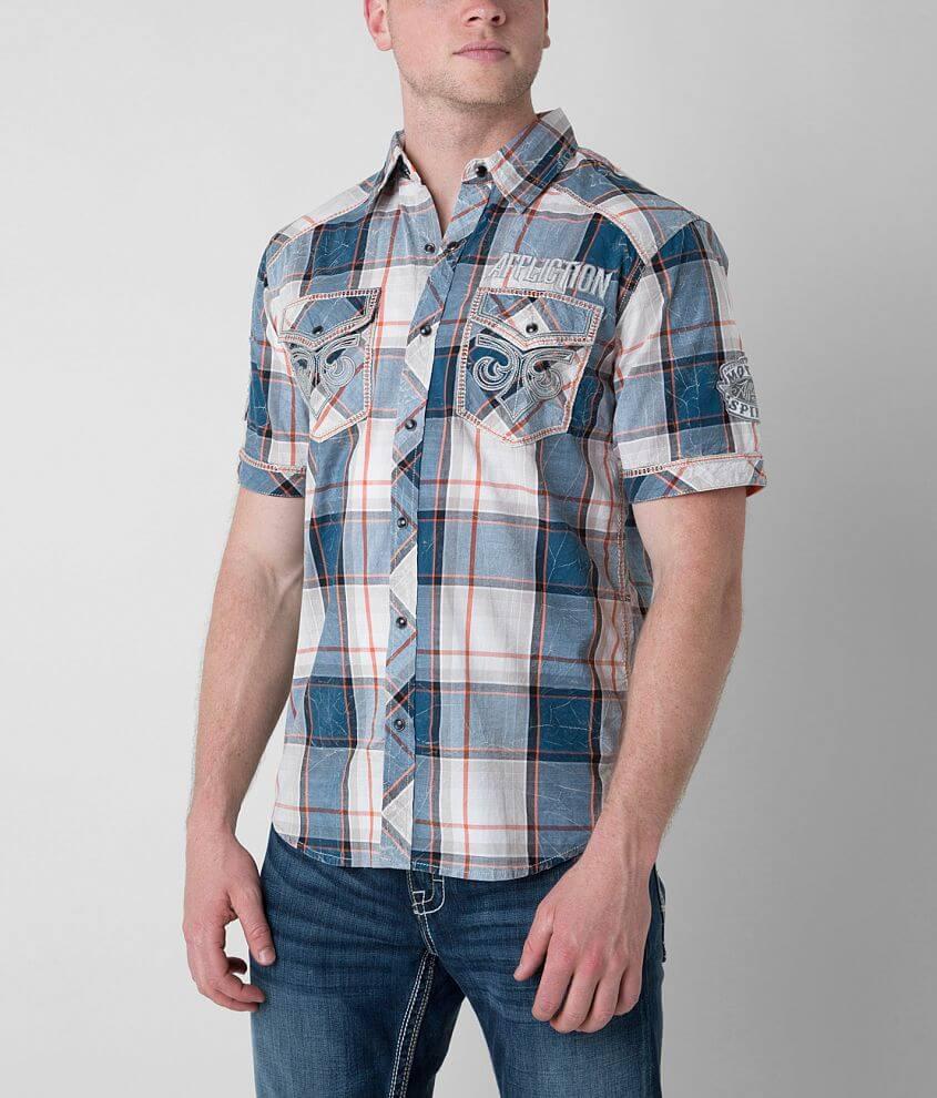 Affliction Black Premium Intuitive Battle Shirt front view