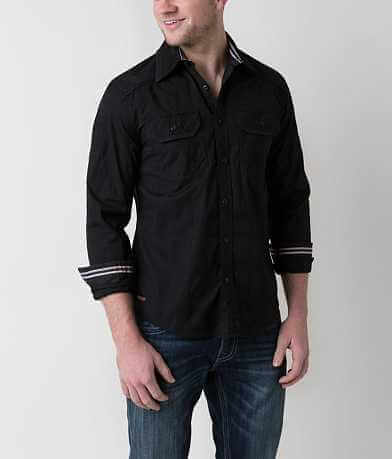 Affliction Black Premium Insanity Stretch Shirt