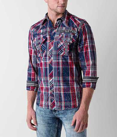 Affliction Black Premium Strike Down Shirt