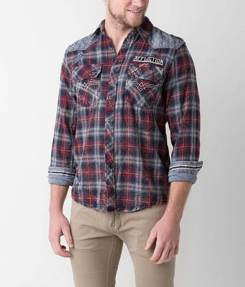 Affliction Black Premium Rotorhead Shirt front view