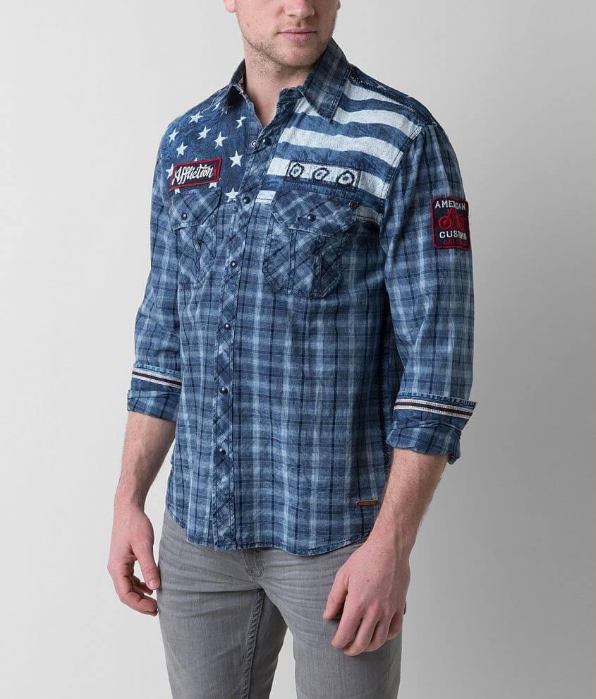 Affliction Black Premium American Brave Shirt front view