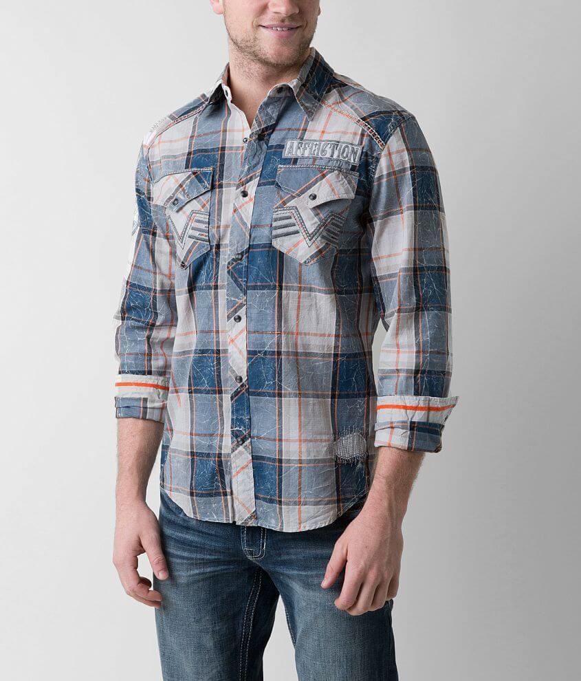 Affliction Black Premium Disintegrate Shirt front view