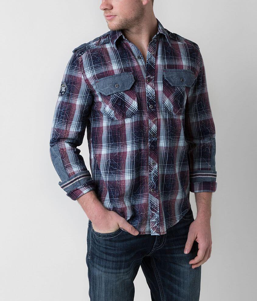 Affliction Black Premium Reborn Shirt front view
