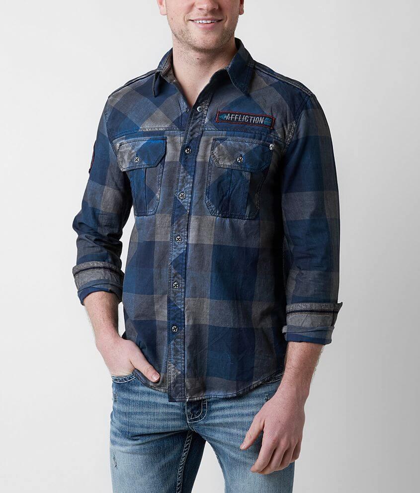 Affliction Black Premium Voodoo River Shirt front view