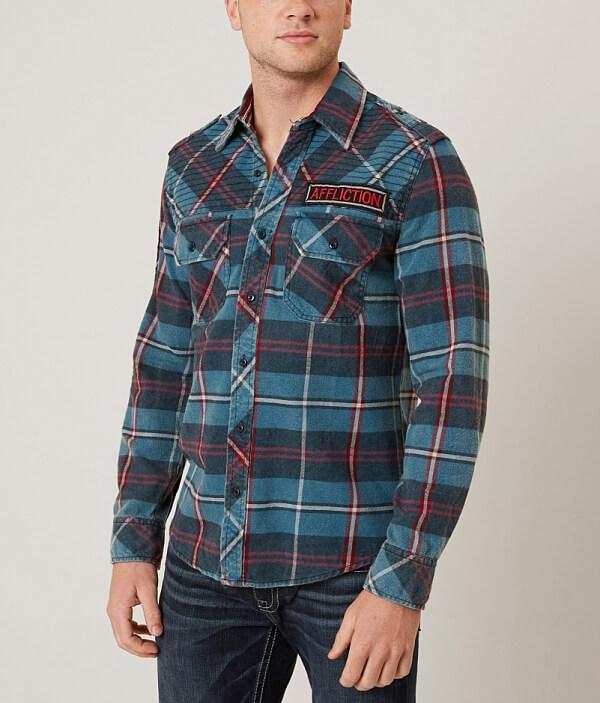 Premium Affliction Eastside Black Black Affliction Shirt pnvY0qptw