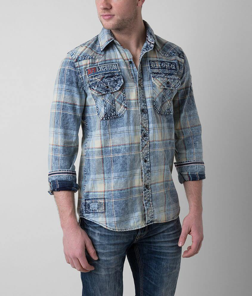 Affliction Black Premium Axle Grease Shirt front view