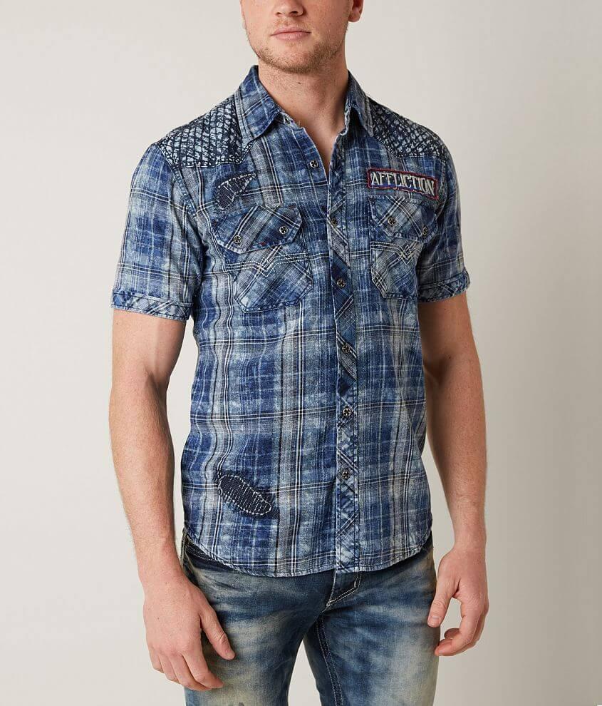 Affliction Black Premium Compression Shirt front view