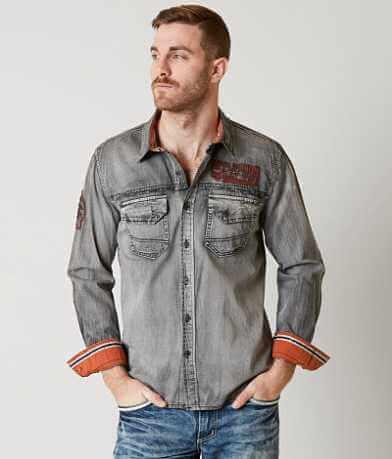 Affliction Black Premium Gravel Storm Shirt