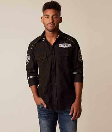 Affliction Black Premium Arrival Zone Shirt