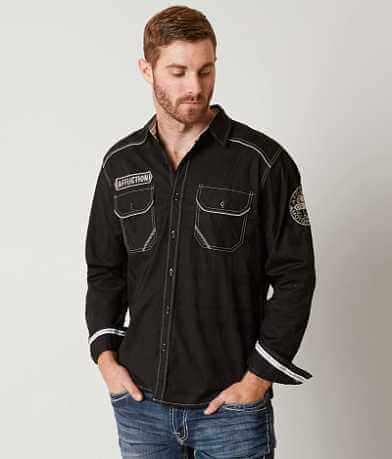 Affliction Black Premium Home Land Stretch Shirt