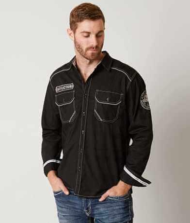 Affliction Black Premium Home Land Stretch Shirt