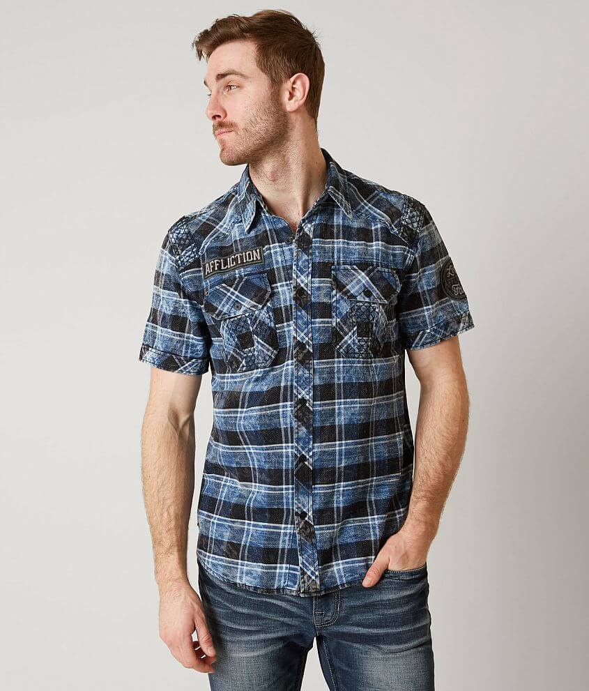 Affliction Black Premium Minefield Shirt front view