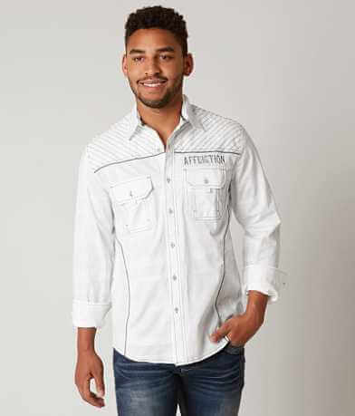 Affliction White Cloud Stretch Shirt