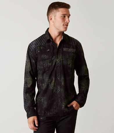 Affliction Black Premium Hayfield Plaid Shirt
