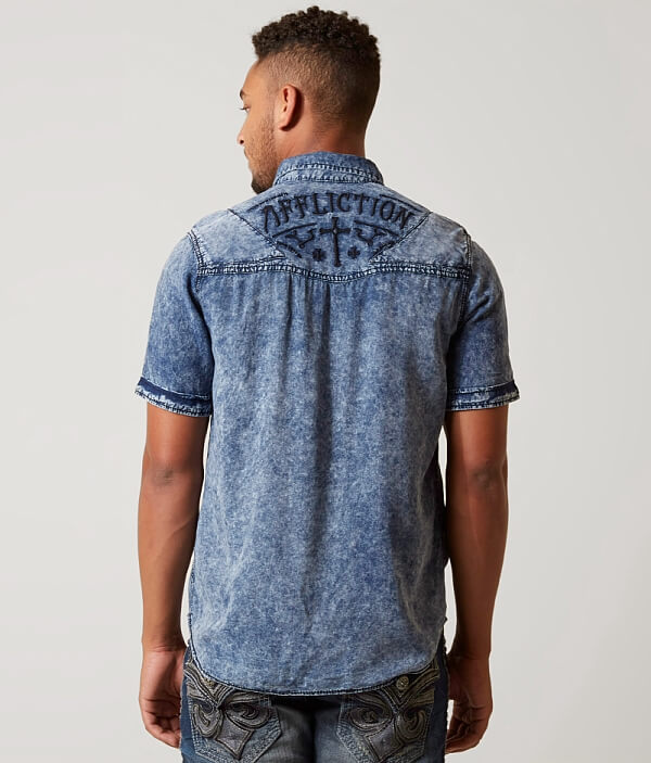 Affliction Loud Shirt Out Premium Black Living rOxqFrfw