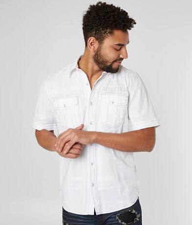 Affliction Black Premium Jalen Stretch Shirt
