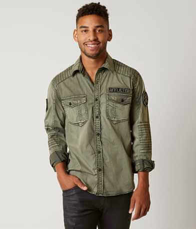 Affliction Black Premium Coronado Stretch Shirt