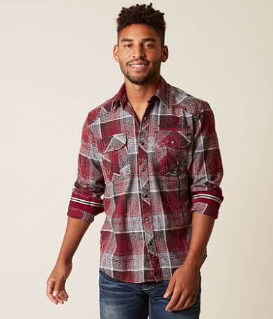 Affliction Black Premium Eagle One Flannel Shirt