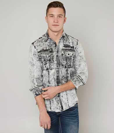 Affliction Black Premium Down Force Shirt