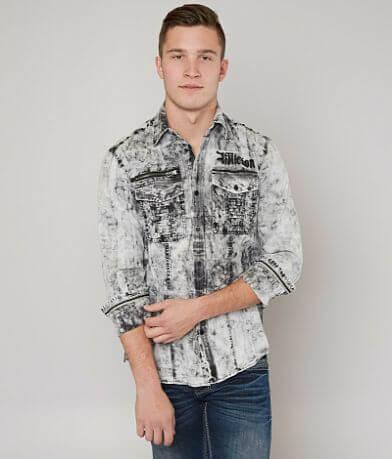 Affliction Black Premium Down Force Shirt
