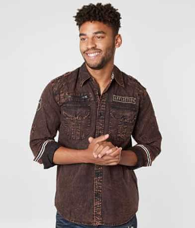 Affliction Black Premium Baron Stretch Shirt