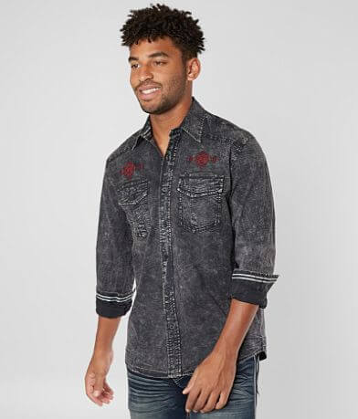 Affliction Black Premium Peyote Stretch Shirt