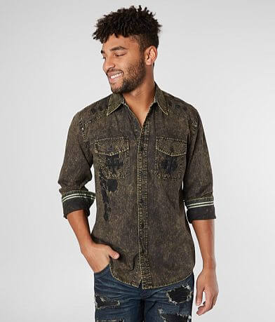Affliction Black Premium Alchemy Woven Shirt