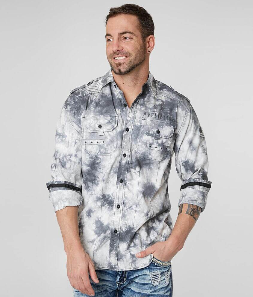 Affliction Archaic Stretch Shirt front view