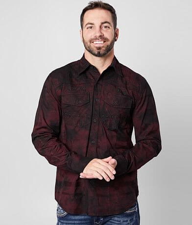 Affliction Widowmaker Stretch Shirt