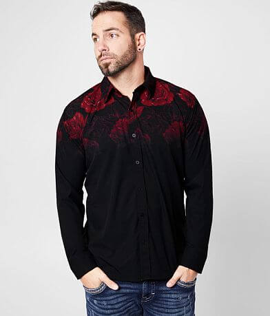 Affliction Rambler Floral Stretch Shirt