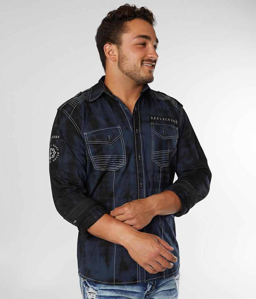 Affliction Overtaker Stretch Shirt front view