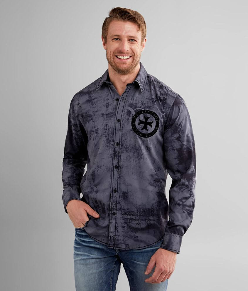 Affliction Salvation Performance Stretch Shirt front view