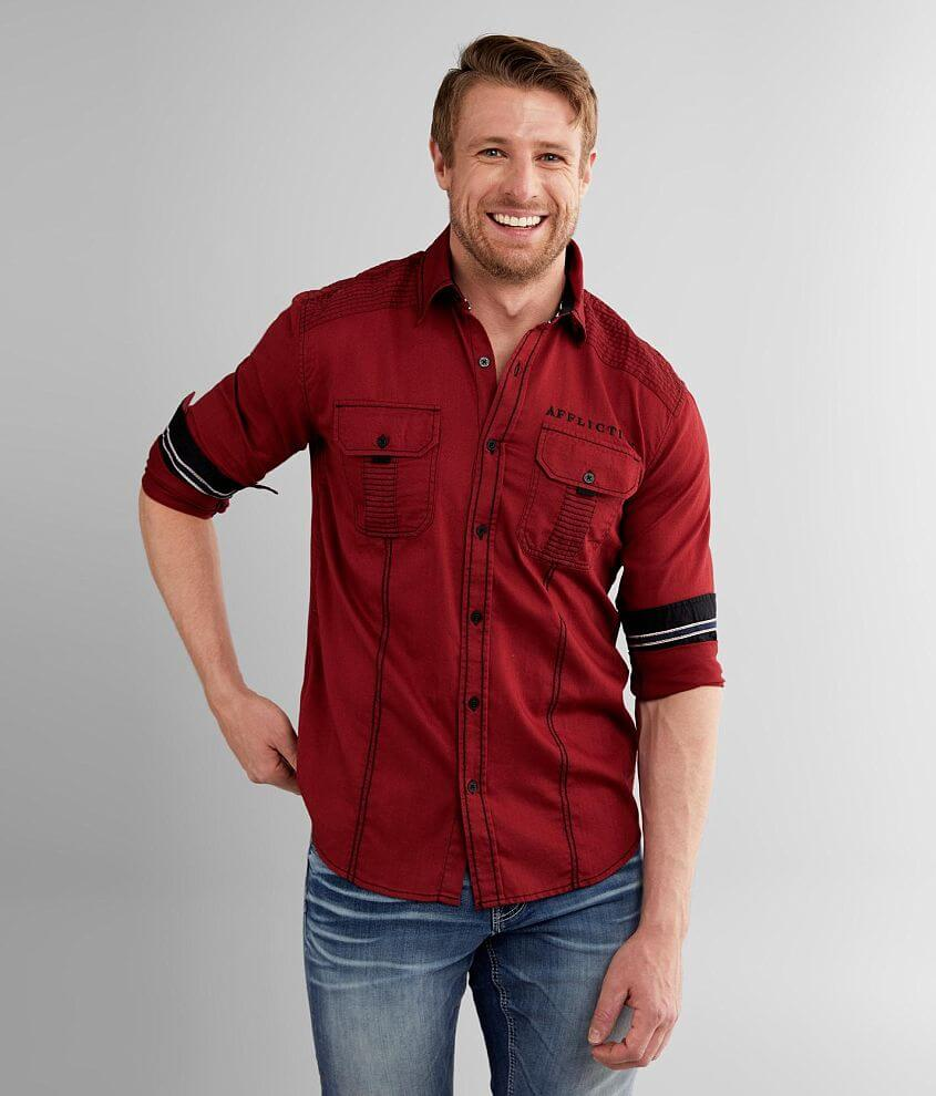 Affliction Paradox Stretch Shirt front view