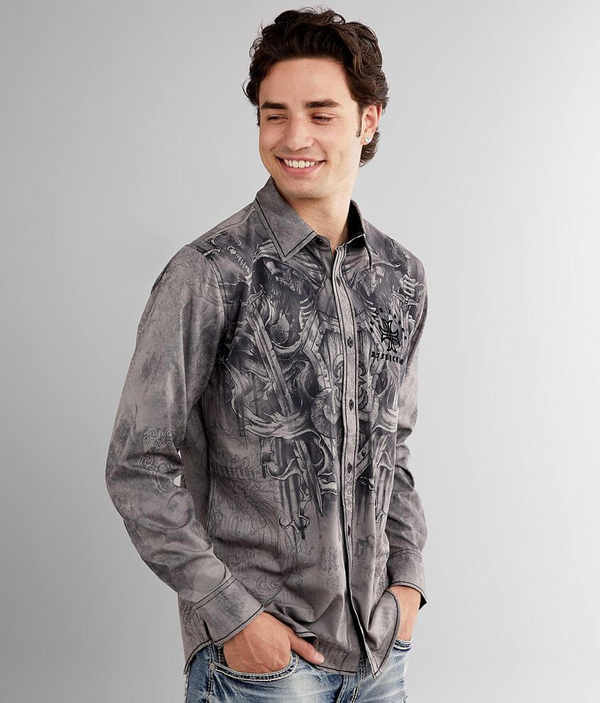 Affliction Conspiracy Stretch Shirt front view