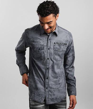 Affliction Daunting Stretch Shirt