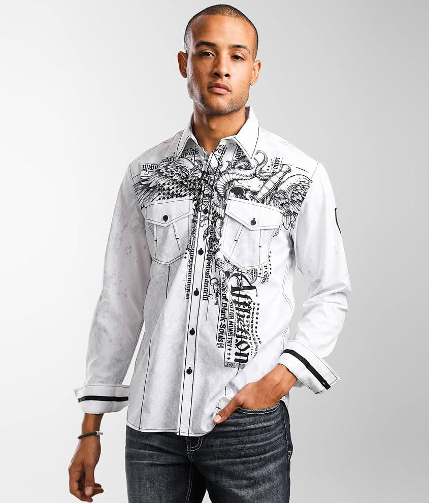 Affliction Impending Stretch Shirt front view