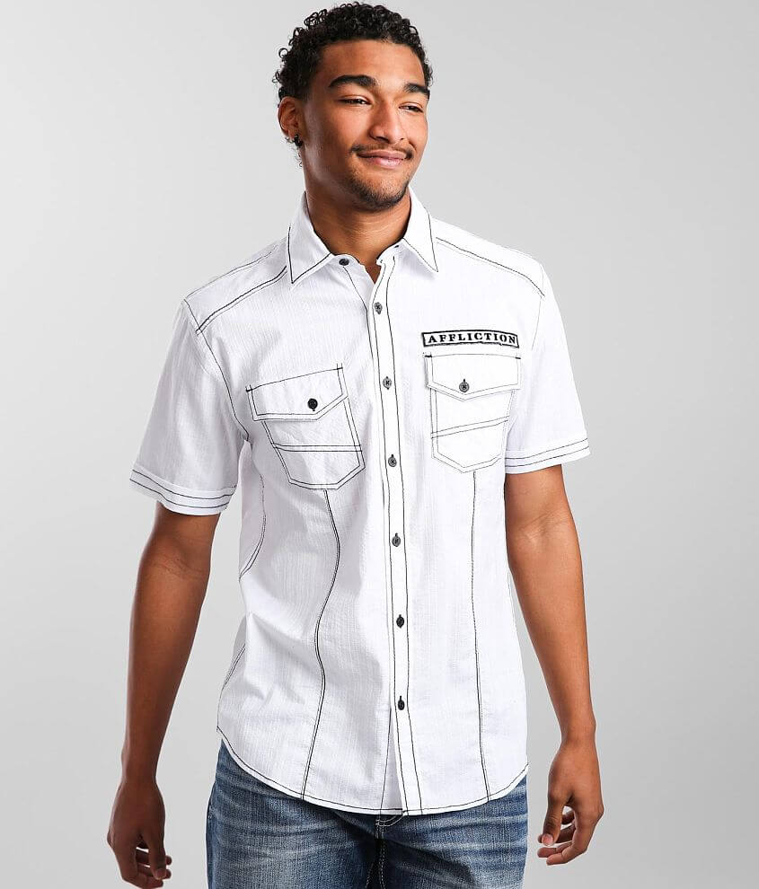 Affliction Disclose Jacquard Stretch Shirt front view