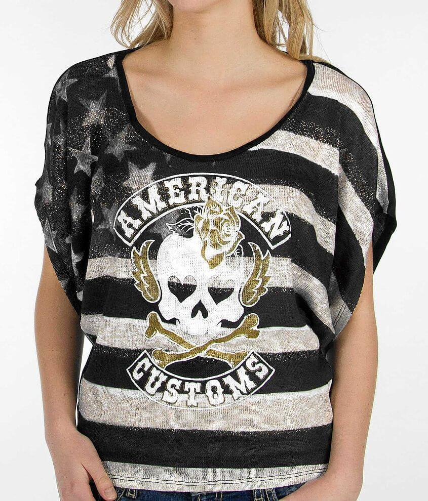 Affliction American Customs Lovely Haze Top front view