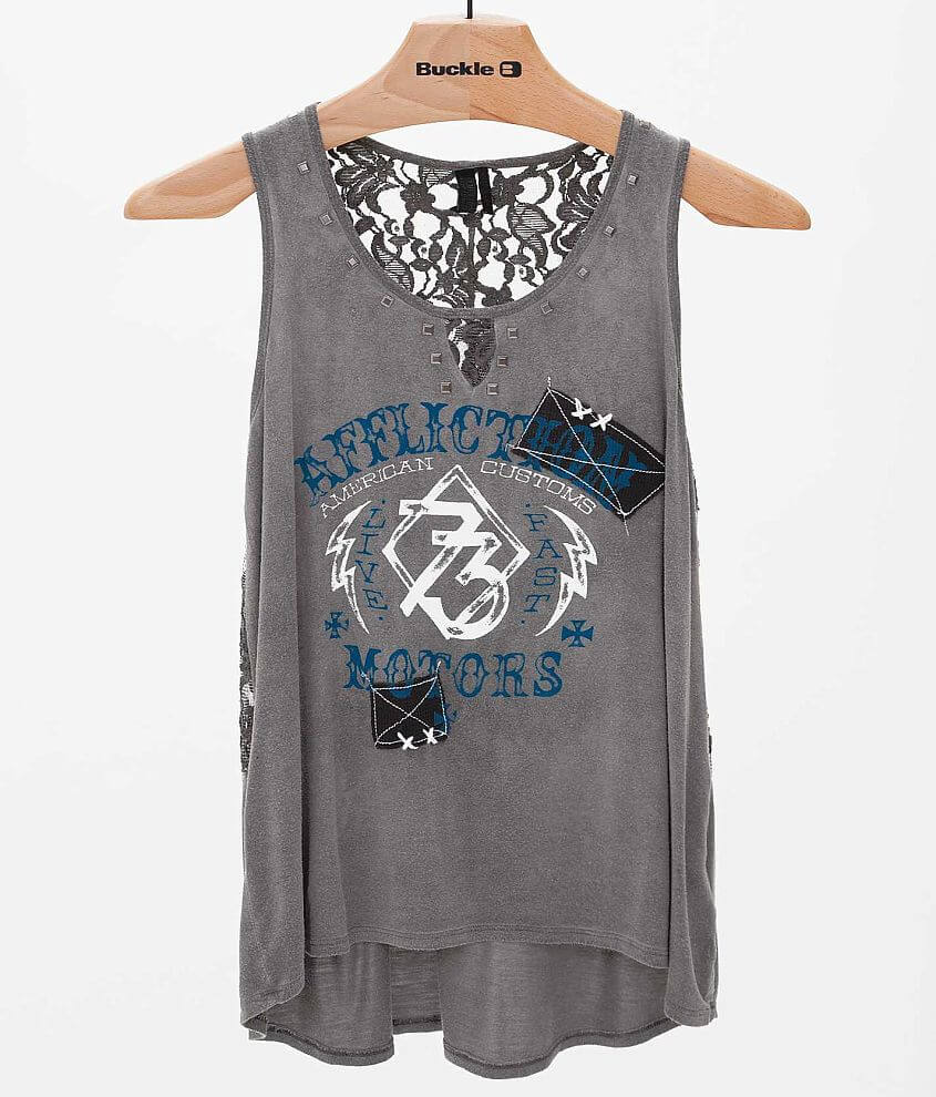 Affliction American Customs Alice Tank Top front view
