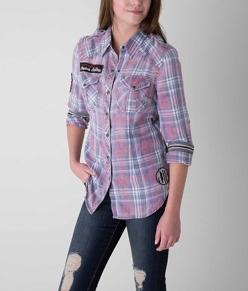Affliction Black Premium Wild & Free Shirt front view