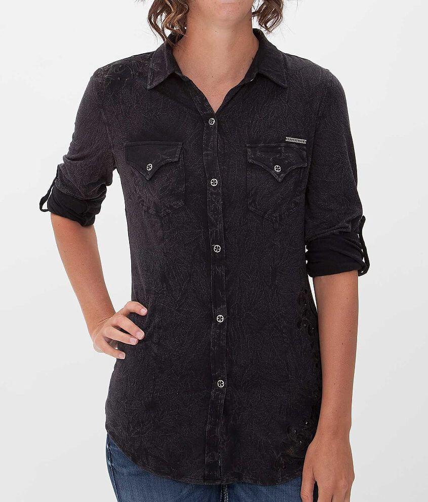 Affliction Black Premium Deadly Sin Shirt front view