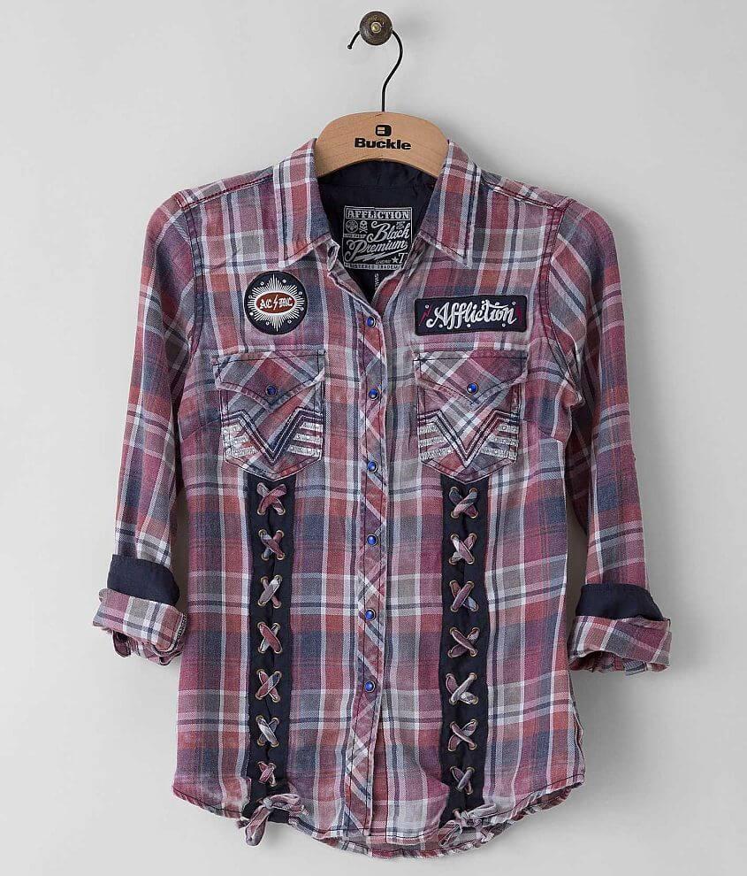Affliction Black Premium Smitten Shirt front view