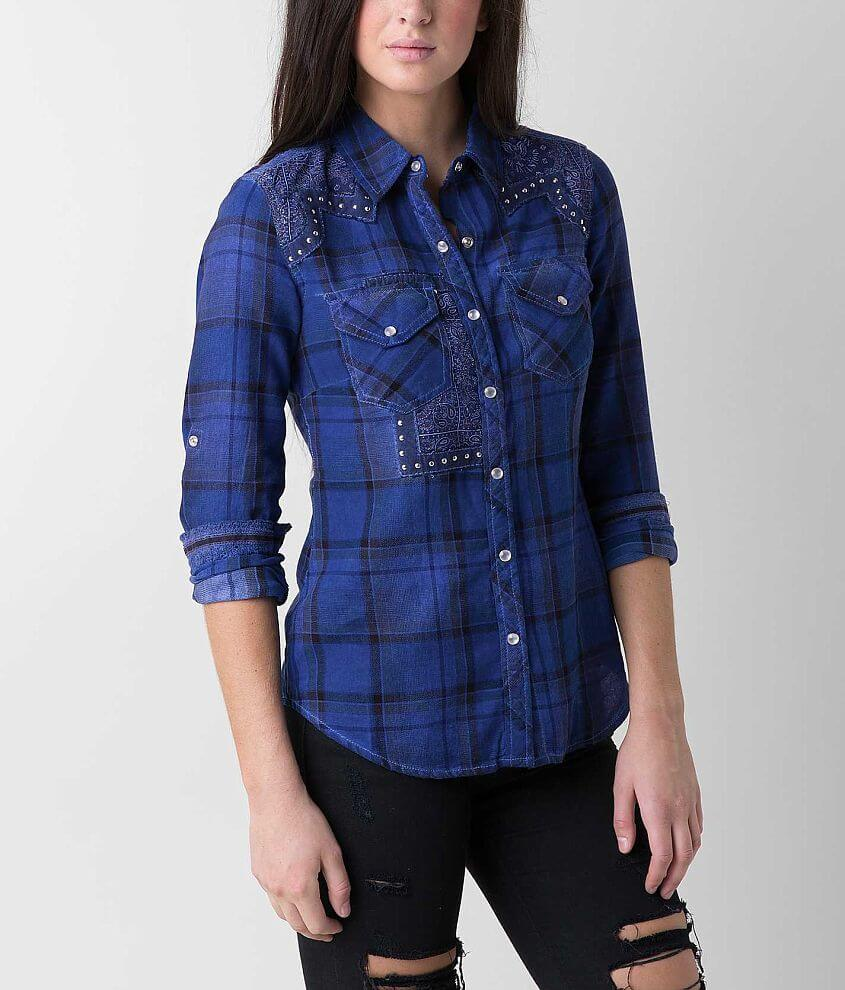 Affliction Black Premium Canter Shirt front view