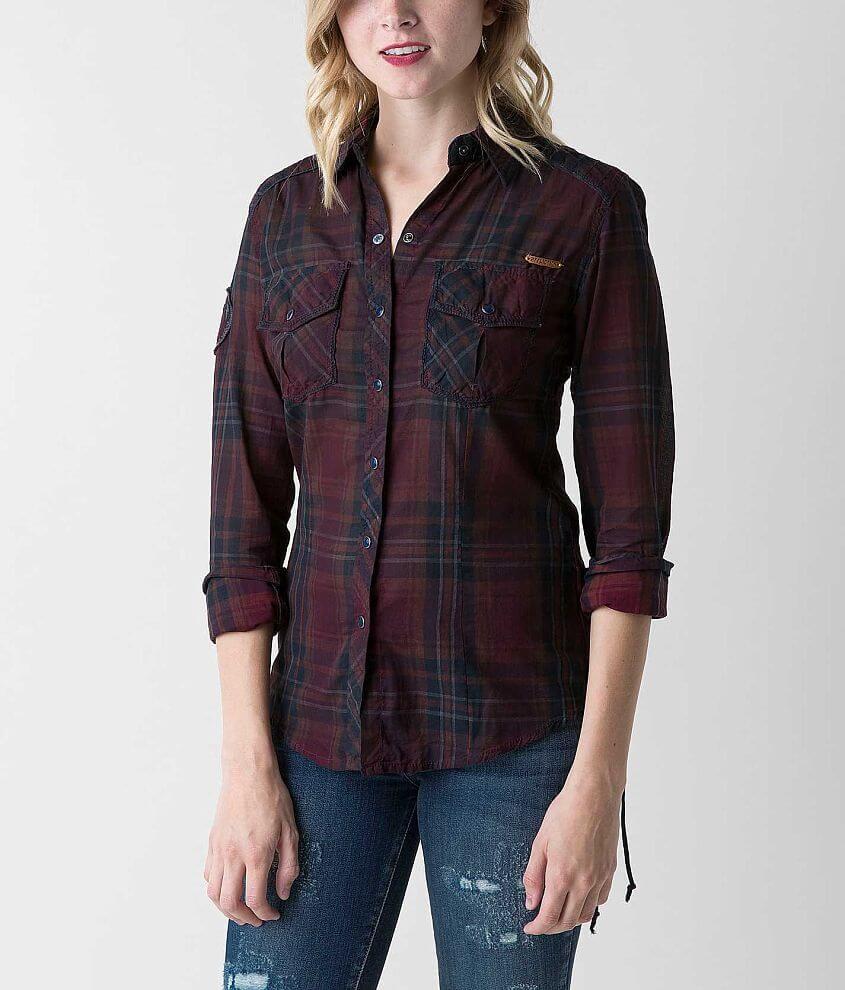 Affliction Black Premium Wisdom Shirt front view