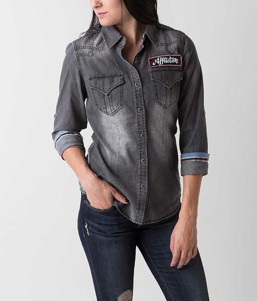 Affliction Black Premium Passion Shirt front view