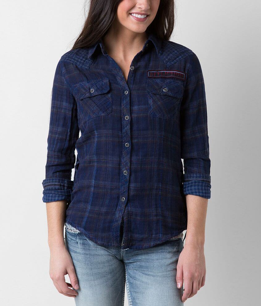 Affliction Black Premium Ella Shirt front view
