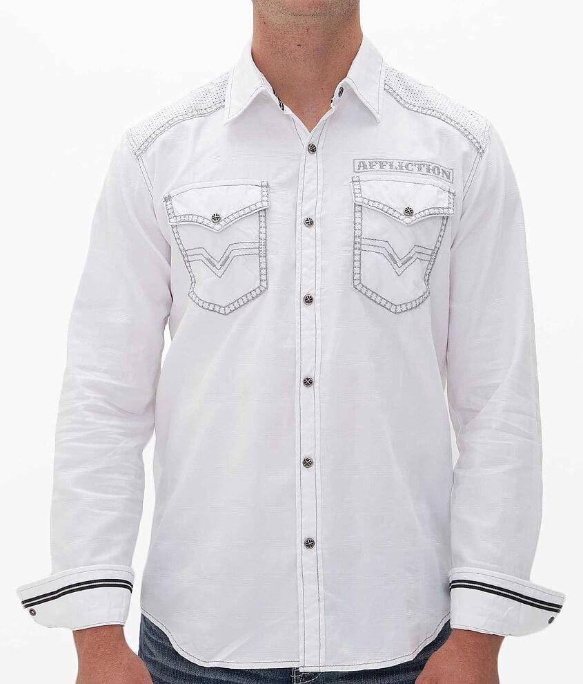 Affliction Black Premium Cannon Shirt front view