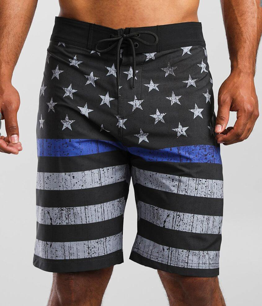 Howitzer Blue Blood Stretch Boardshort front view